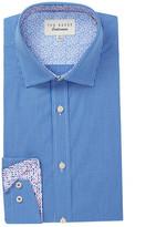 Ted Baker Baasing Check Print Trim Fit Dress Shirt