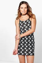 Boohoo Lauren Printed Strappy Bodycon Dress