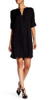 Max Studio Woven Tab Sleeve Dress
