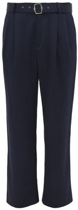 Sies Marjan Andy Belted High Rise Twill Trousers - Mens - Navy