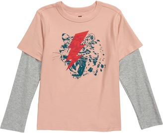 Tea Collection Leopard Flash Graphic Two-Fer Tee