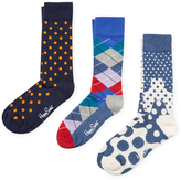 Happy Socks Argyle, Small and Big Circles Socks (3 PK)