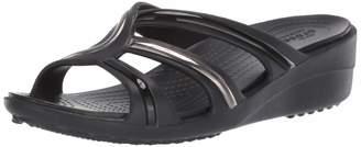 Crocs Women's Sanrah MetalBlock Strap Wedge Sandal