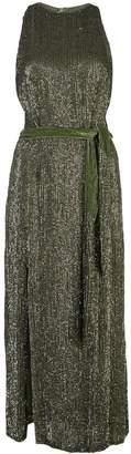 retrofete tied waist glitter dress