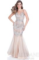 Terani Evening - Stunning Jeweled Bodice Mermaid Gown 1611P0705