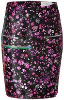 Preen Wool Blend Mille-Fleur Print Skirt