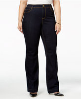 INC International Concepts Plus Size High-Waist Flare-Leg Jeans, Only at Macy's