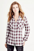 True Religion Plaid Utility Womens Shirt