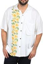 Ingear Casual Shirt Button Down Hawaiian Short Sleeve Cruise Rayon Summer Shirt