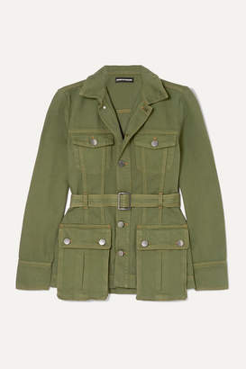 House of Holland Belted Denim Jacket - Army green