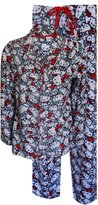 Hello Kitty Red and Blue Button Front Fleece Pajama for women