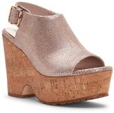Donald J Pliner Women's ROSIE - Vintage Lizard Leather Platform Wedge Sandal