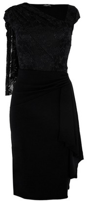 Dorothy Perkins Womens *Feverfish Black Lace Midi Cape Dress, Black