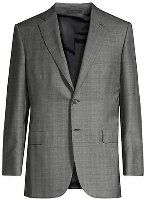 Brioni Windowpane Wool & Silk Suit Jacket