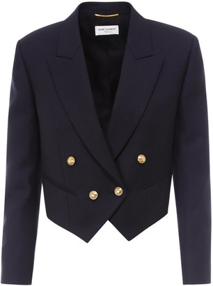 Saint Laurent Cropped Double-Breasted Jacket