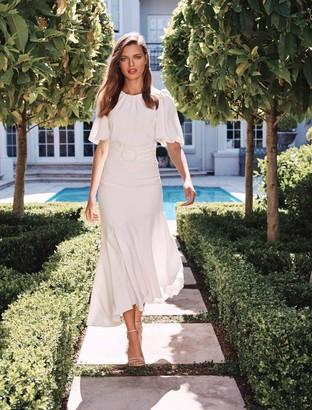 Forever New Celeste Puff Sleeve Maxi Dress - Porcelain - 10