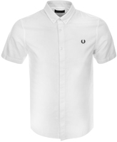 Fred Perry Short Sleeved Oxford Shirt White