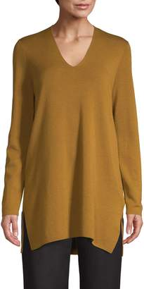 Eileen Fisher Merino Wool V-Neck Tunic