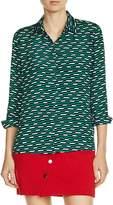 Maje Clelia Printed Shirt