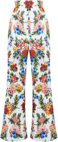 Emilia Wickstead Samy Floral Flared Leg Trousers