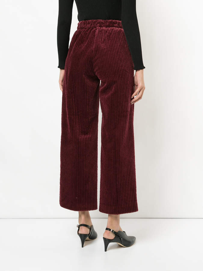 ASTRAET ribbed cropped trousers