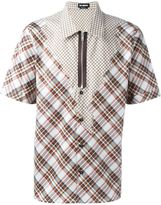 Raf Simons checked patchwork shirt - men - Cotton - 46