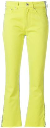 MSGM Colourblock Kick Flare Jeans