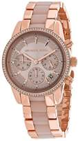 Michael Kors Ritz MK6307 Women's Two-Tone Chronograph Watch with Crystal Accents