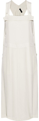 Rag & Bone Adrian Button-detailed Crinkled-twill Midi Dress