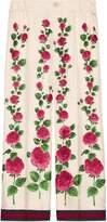 Gucci Rose Garden print silk pajama pants