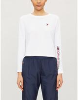 Selfridges Tommy Sport Long-sleeved cotton-blend T-shirt