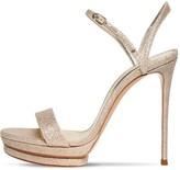 Casadei 120mm Glittered Platform Sandals