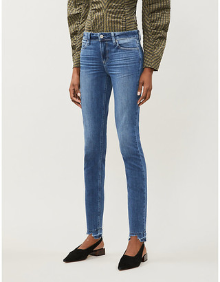 Paige Verdugo distressed skinny mid-rise stretch-denim jeans