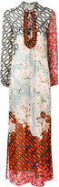 Amen multi-print shift maxi dress