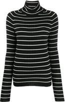 Ami Paris Turtleneck Striped Sweater