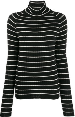 AMI Paris Turtleneck Striped Sweater