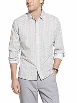 Geoffrey Beene Men's Fit Easy Care Long Sleeve Button Down Shirt