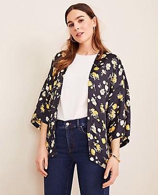 Ann Taylor Sunny Poppy Kimono
