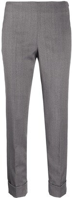 Peserico Cropped Slim-Fit Trousers