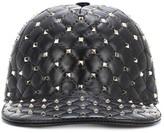 Valentino Garavani Rockstud Spike leather cap