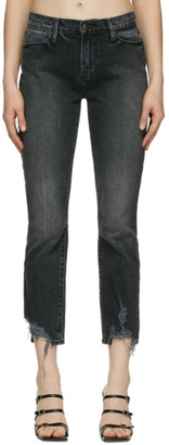 Frame Grey Washed Le High Straight Jeans