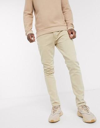 Topman skinny jeans in stone