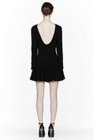 Kenzo Black Ribbed Scoopback Dropped Waist Dress