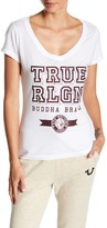 True Religion Rounded V-Neck Gemstone Tee