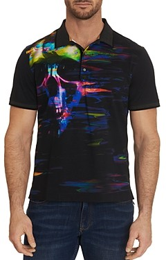 Robert Graham Vanish Cotton Graphic Print Classic Fit Polo Shirt