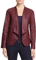 BB Dakota Wyden Harper Draped Leather Jacket