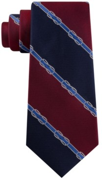 Tommy Hilfiger Men's Rope Knot Stripe Tie