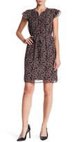 Nine West Printed Pintuck Dress
