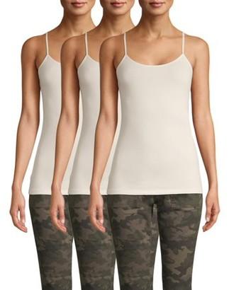 Time and Tru Women's Cami Tank Top, 3-Pack Bundle