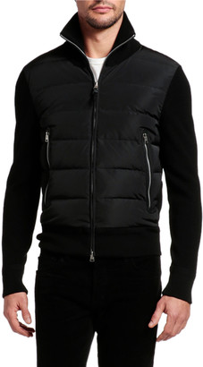 Tom Ford Men's Wool-Trim Puffer Jacket